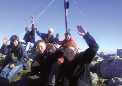 2008 - Gipfelfoto auf dem  Scheffauer (2111 m ü. NN)