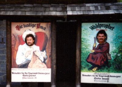 1999 - Klaus Schäuffele (re.) und Siegfried Wezel (li.) in der Bärwurzerei